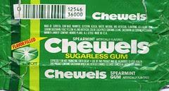 Spearmint Chewels wrapper