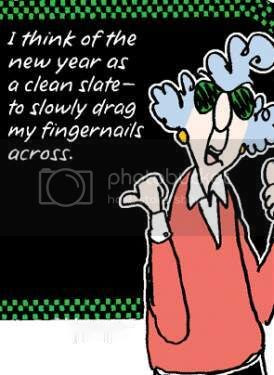 New Year Maxine Clean Slate Resolutions Happy Fingernails Blackboard LOL Funny Laughs Laughing Cartoon Pictures, Images and Photos