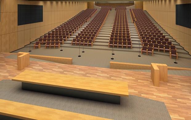 Projeto do Anexo B prevê construção de um novo auditório para a Câmara (Foto: Reprodução)