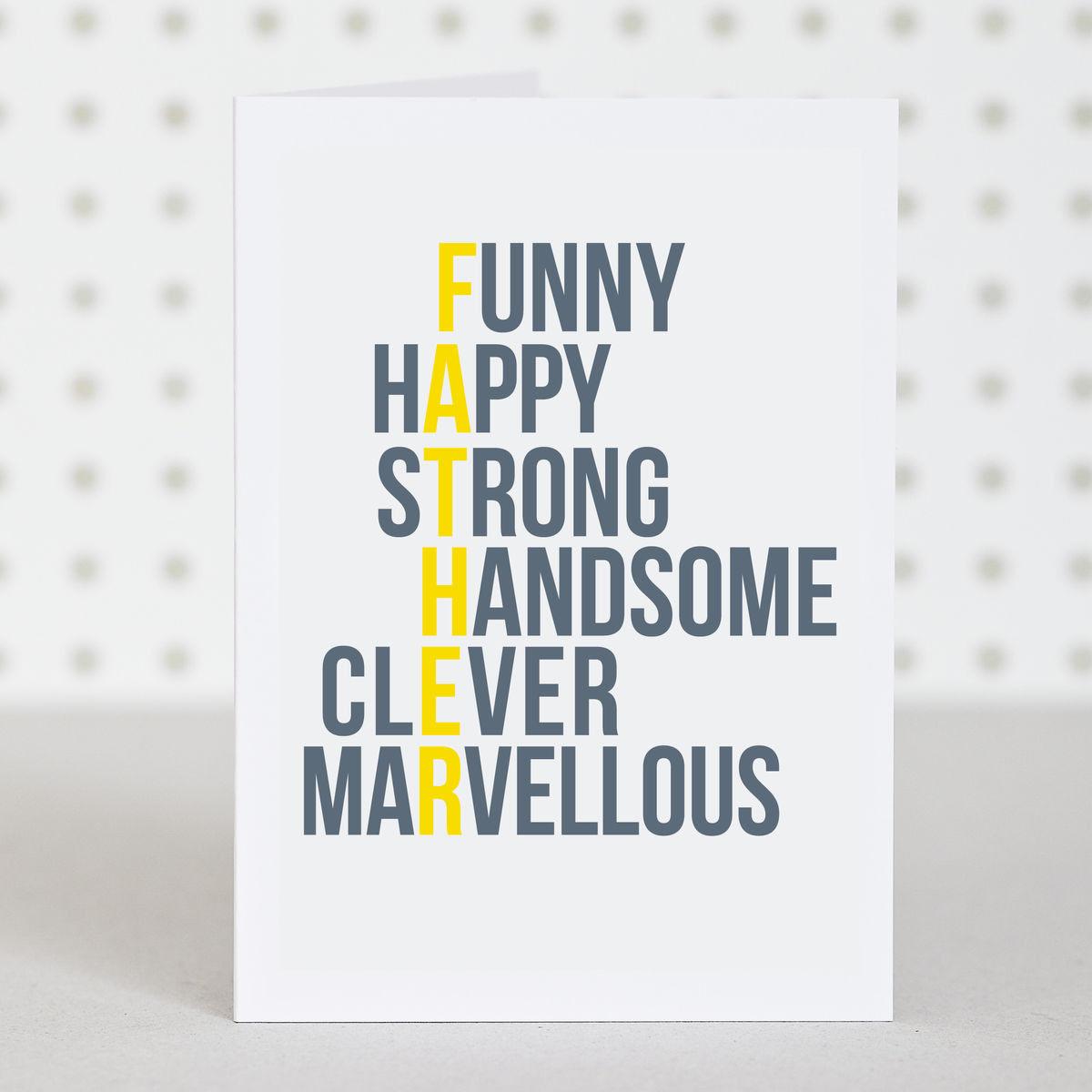 Happy Birthday Card Ideas For Dad
