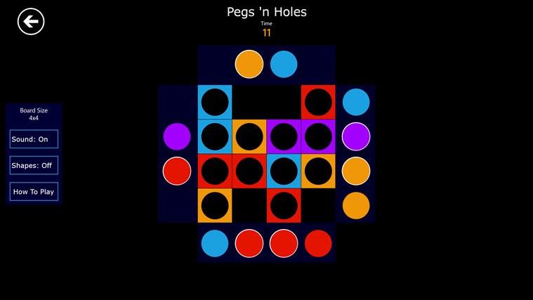 Pegs 'n Holes screen shot 0