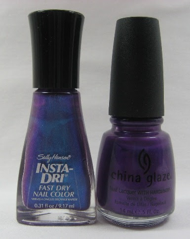 Purple shimmers