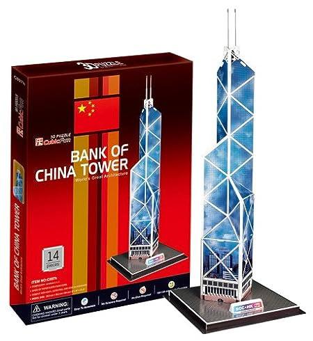 3D立体パズル 中国銀行タワー