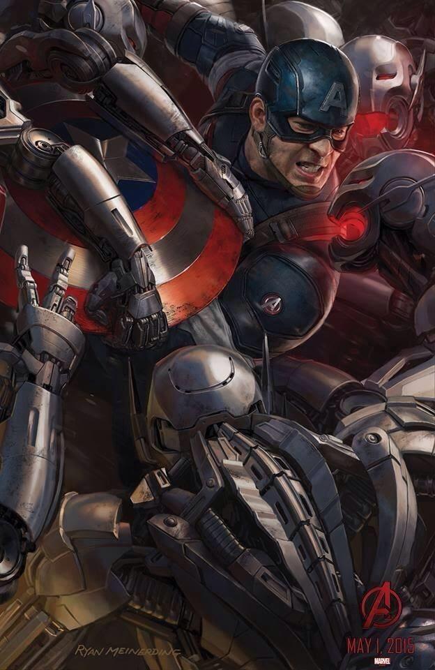 """Capitán América en el Poster de """"Los Vengadores : La Era de Ultron"""""""