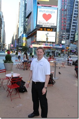 Stephen Cawood Metalogix loves SharePoint Times Square