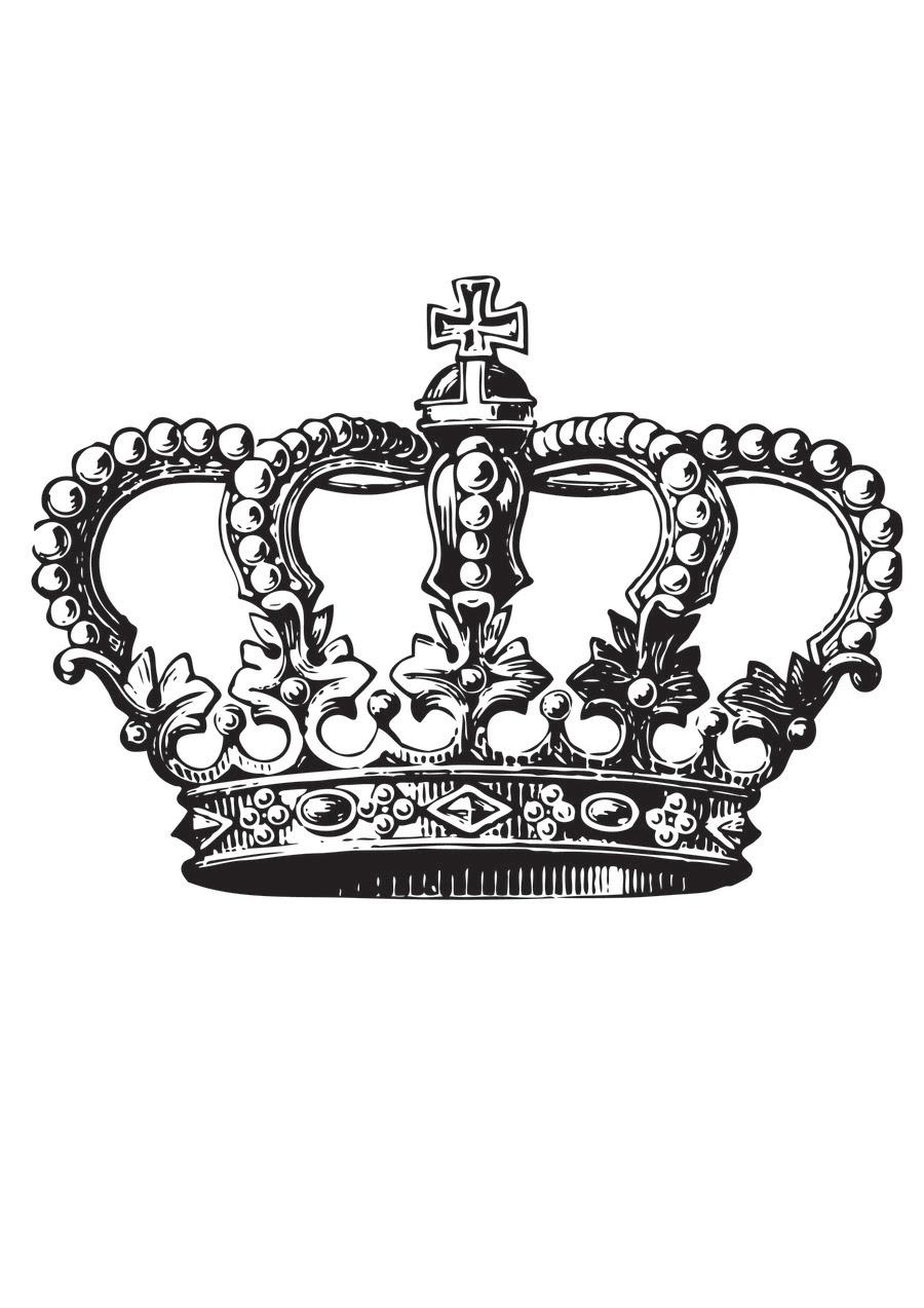 King Crown Tattoo Design Idea