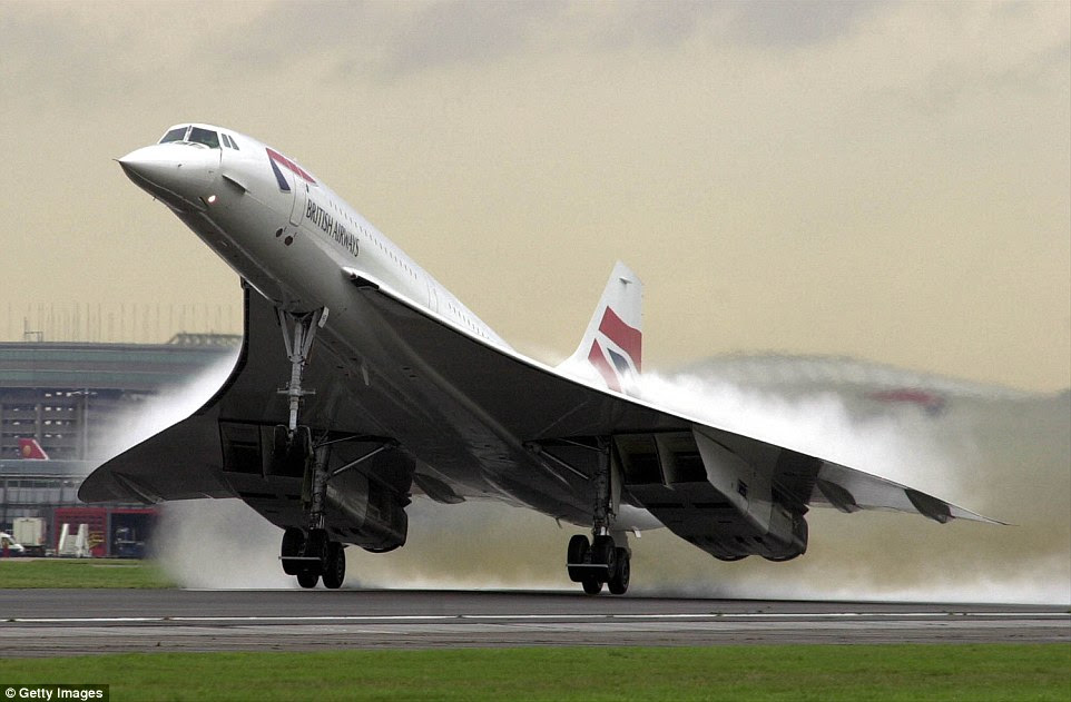 The concorde was a turbojet-powered supersonic passenger jet airliner that was in service from 1976 to 2003. It is one of only two supersonic transports to have entered commercial service; the other was the Tupolev Tu-144