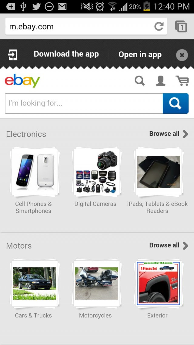 How to Make Mobile eCommerce Convert: What's Effective In Mobile Design Right Now image eBay mobile 1 e1407775609647