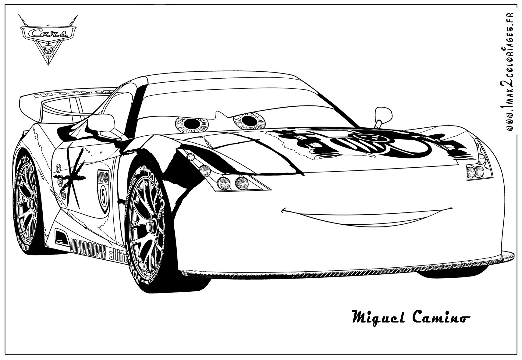 Coloring Pages Of Cars 2 Erieairfair