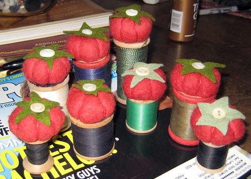 Pincushions for Christmas House on Bainbridge Island. WA