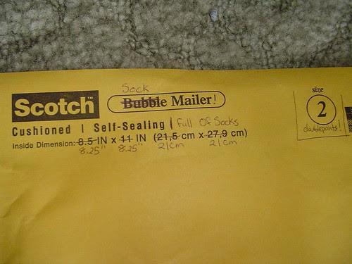 Sockapalooza envelope 1