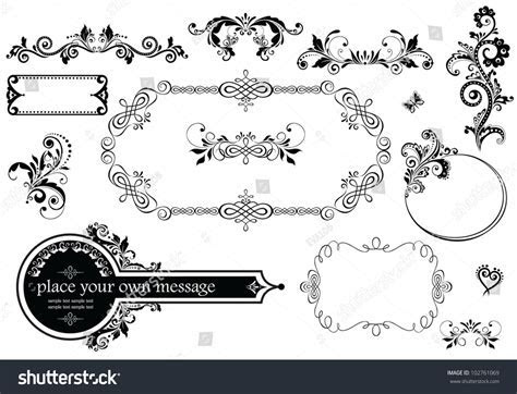 Vintage Wedding Decoration Stock Vector 102761069