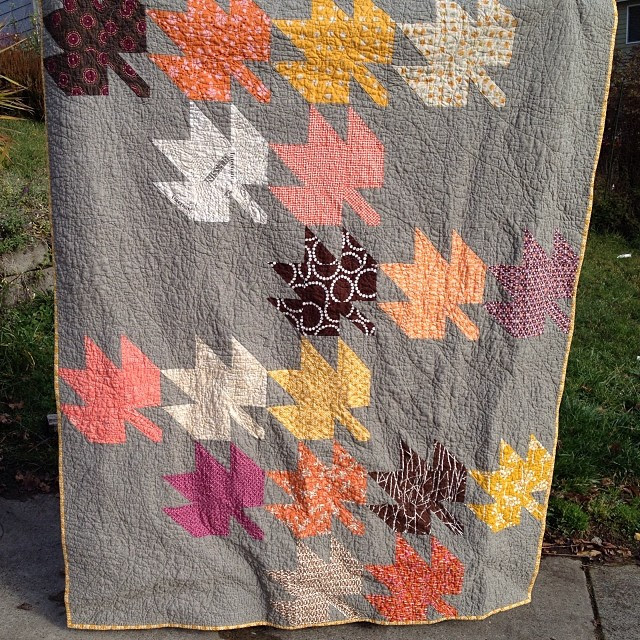 #modernmaples done!  In time for the last days of autumn. #goodthings #modernquilting