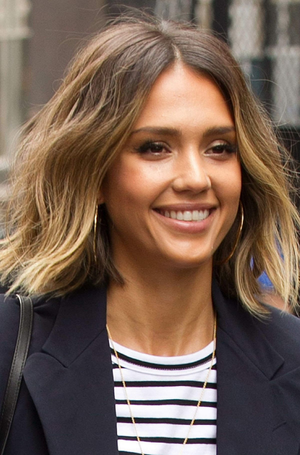 JESSICA ALBA Leaves Her Hotel in New York