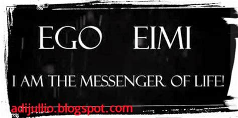 answering christianity menjawab soal kata ego eimi
