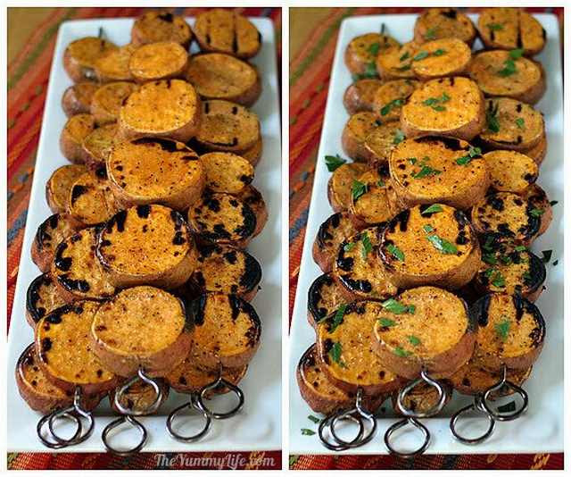 Sweet potatoes are getting a lot to a greater extent than  pop when it comes to cooking How To: Make Grilled Sweet Potato Kebabs!