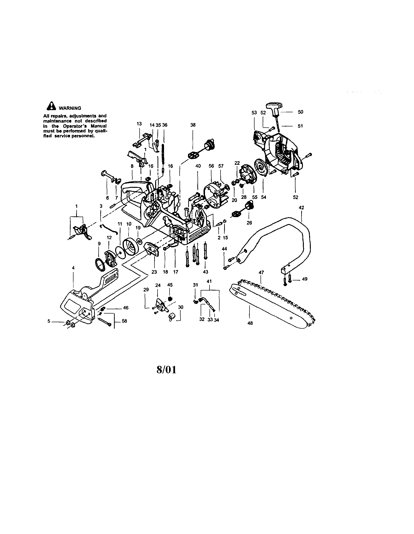 CRAFTSMAN GAS CHAINSAW Parts | Model 358350440 | Sears ...