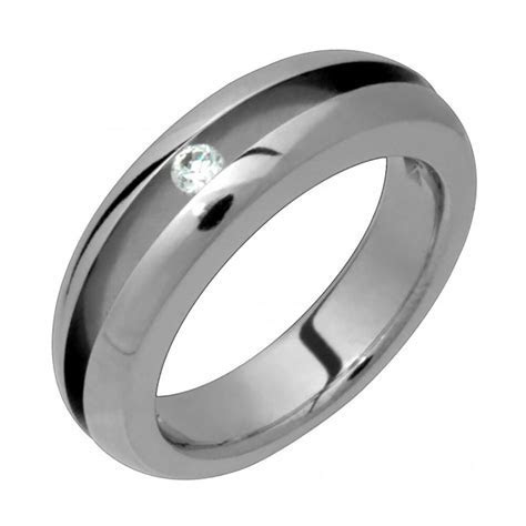 New Mens Titanium Ring Engagement Ring Wedding Band With