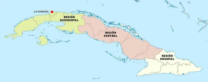 Resultado de imagen de principales regiones de cuba