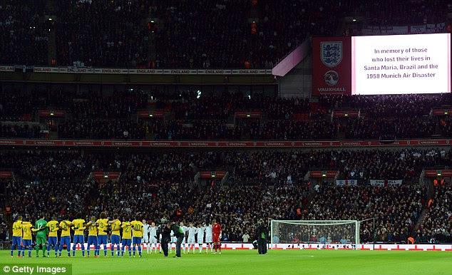 England and Brazil at Wembley Stadium