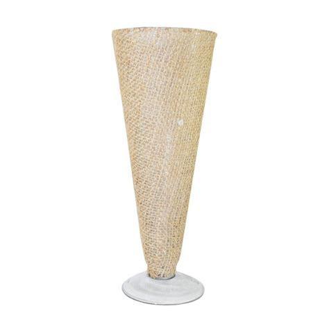 10.5 Burlap Wrapped Glass Pilsner Vase [SK23506 Bulk