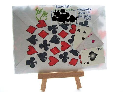mail art 365-051 back by Miss Thundercat