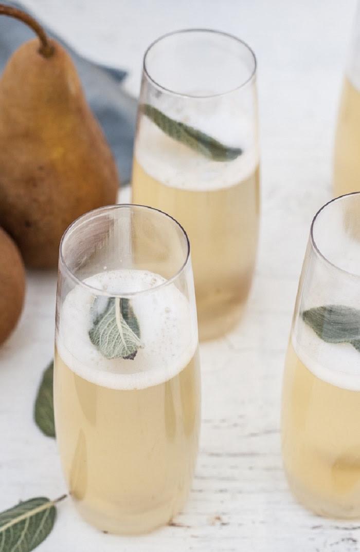 receita de drinques com champanhe