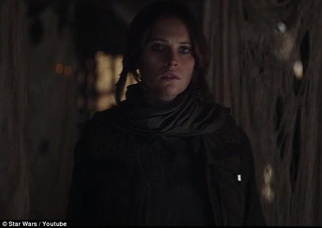 Herói que precisamos: Felicity Jones interpreta o protagonista, chamado Jyn Erson, no filme altamente antecipado