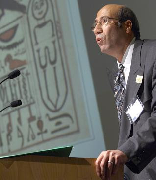 Dr. Okasha El Daly during his speech at 1001 Inventions Conference.