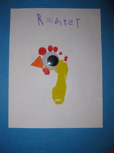 Rooster Letter R