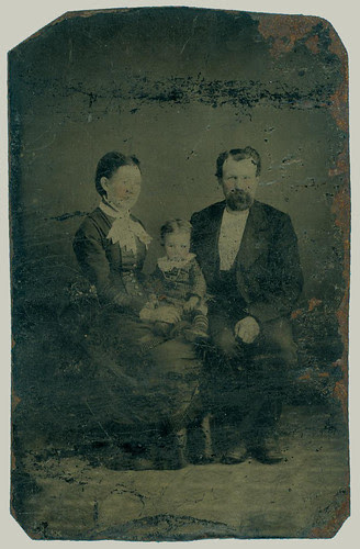 Tintype family of three