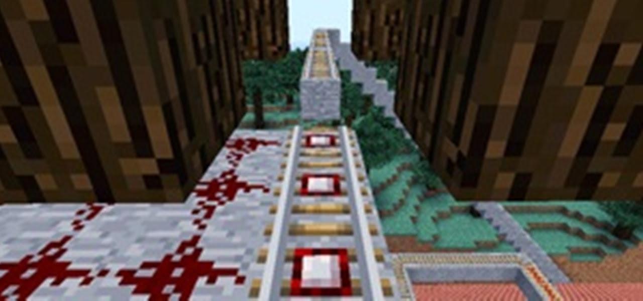 minecraft upside down roller coaster