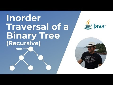 Recursive In-Order traversal of a Binary Tree in Java (Video