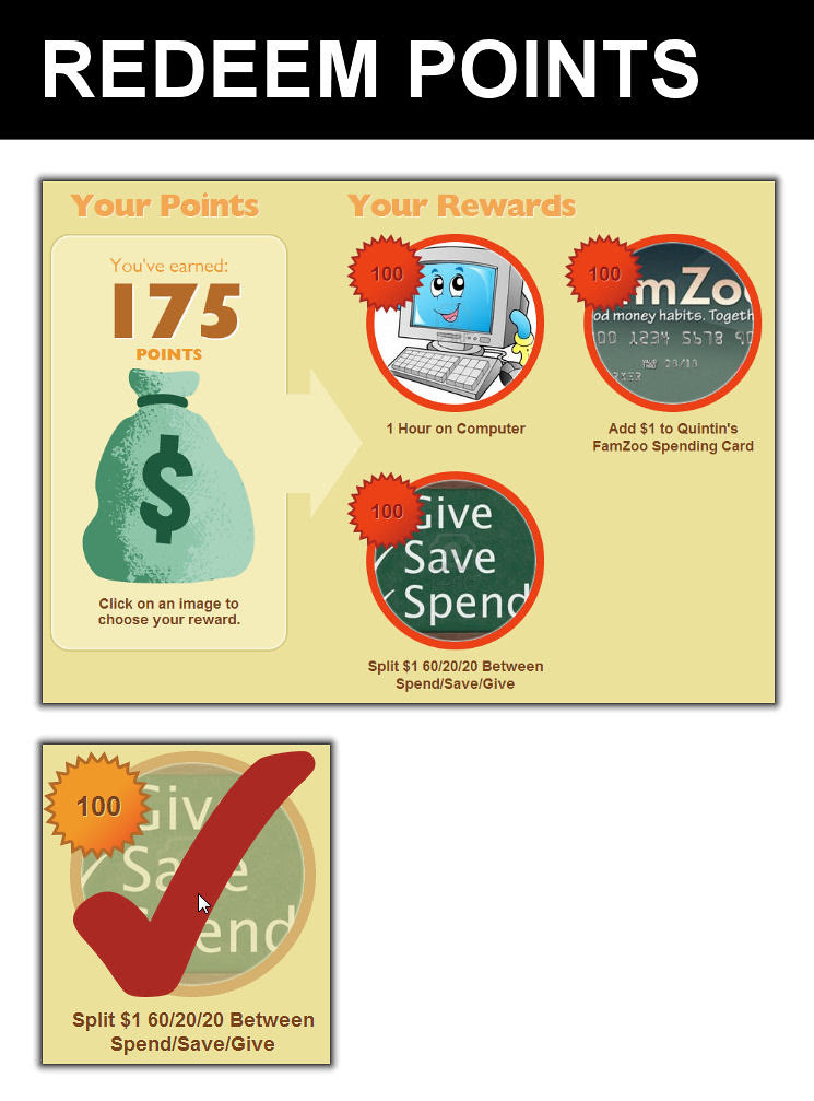 Redeem Points in ChoreMonster for FamZoo Deposits