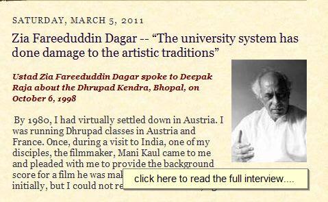 Interview of Ustad Z. F. Dagar by Deepak Raja