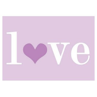 Love Purple stamp