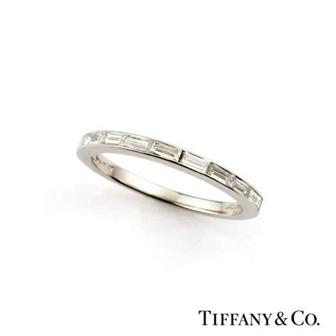 Tiffany & Co. Baguette Cut Diamond Half Eternity Ring in