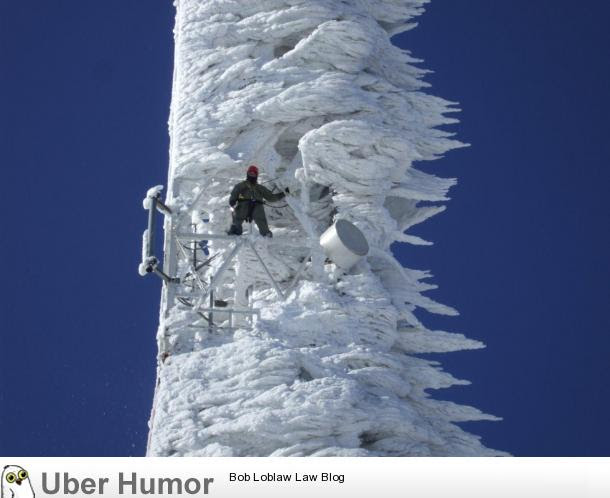 Tower After A Snow Storm Funny Pictures Quotes Pics Photos