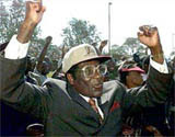 Mugabe: Just thrown another farmer on the fire