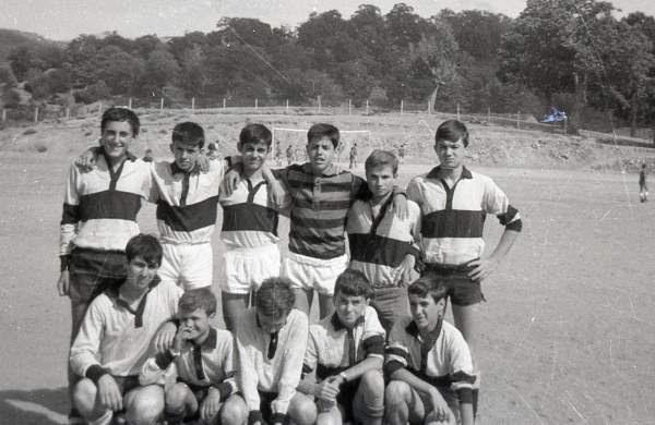 équipe cadet de foot d'Aullène 1965