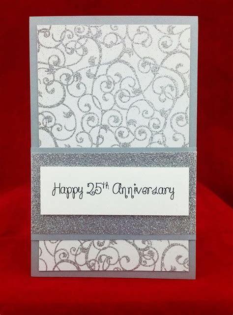 Handmade 25th Wedding Anniversary Card   My Keepsake Cards