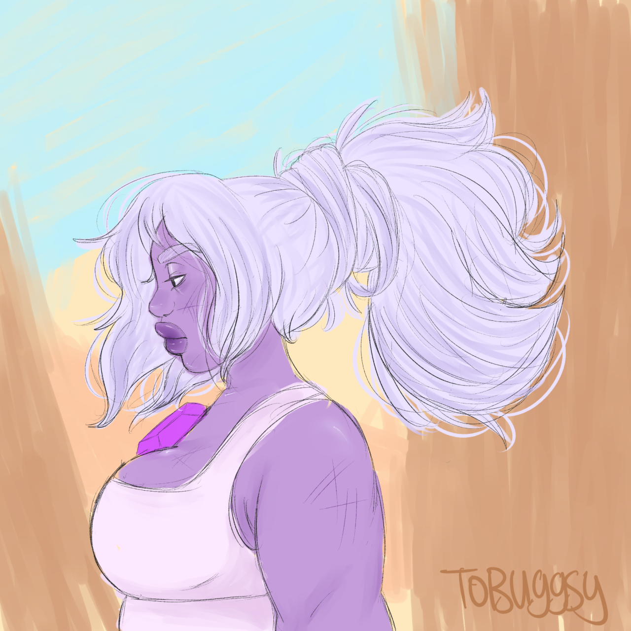 an amethyst doodle!! i HAD to draw that ponytail!! i love her so much….