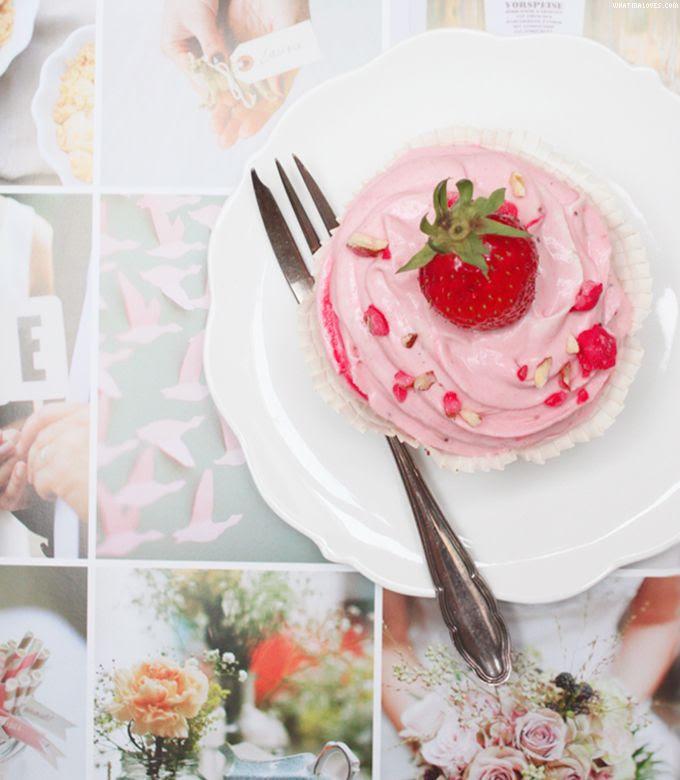 Wedding, Hochzeitsinspirationen, Erdbeercupcakes