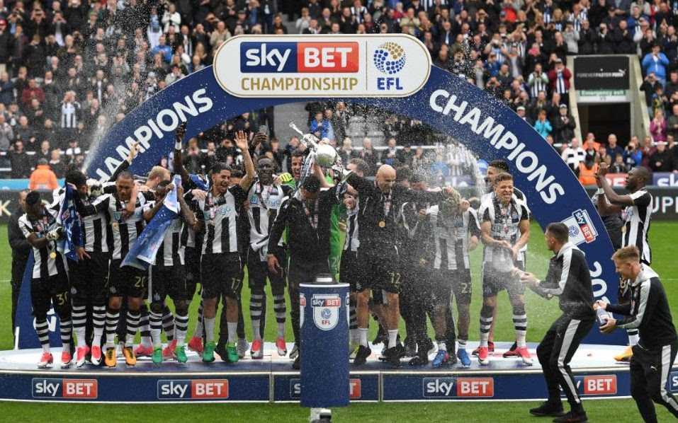 Image result for newcastle win championship 2017