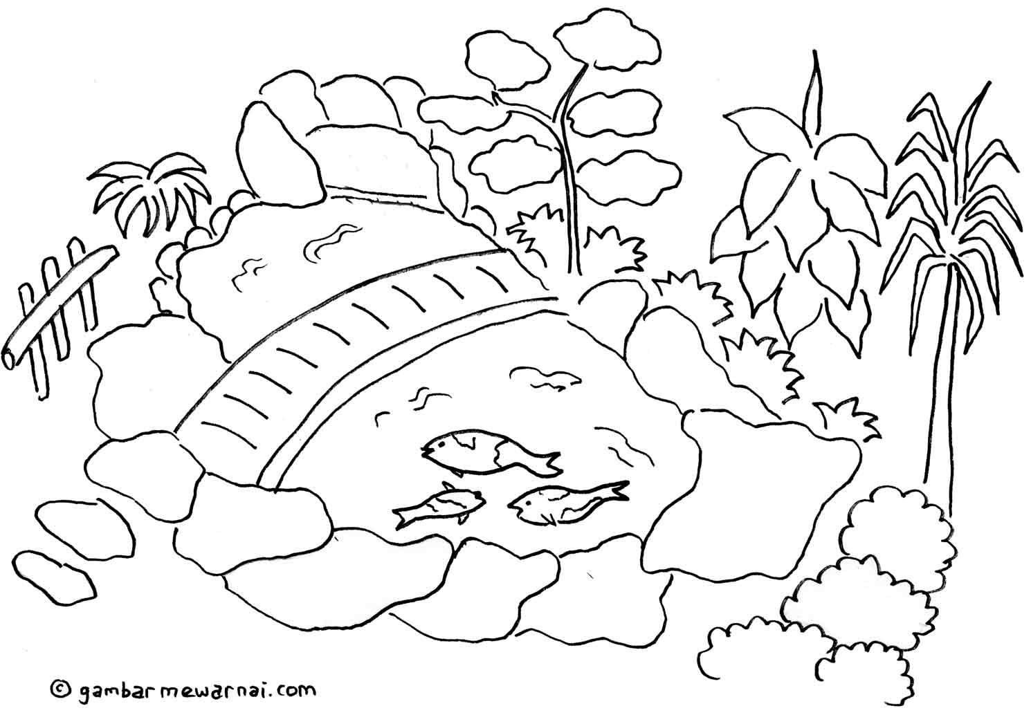 Mewarnai Gunung Meletus Dengan Crayon B Warna