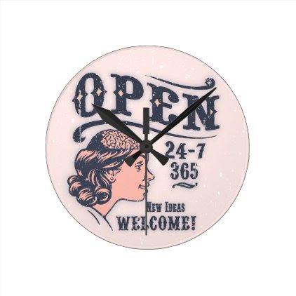 Open Mind -f Round Clock