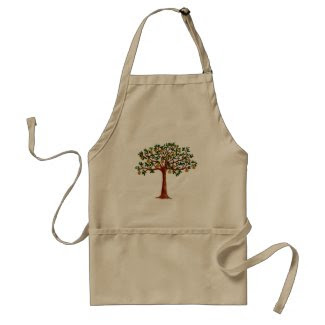 P in a Pear Tree Art on Apron