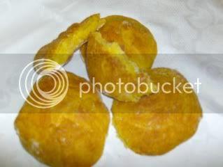 Brioches de abóbora com comopta de laranja e cenoura