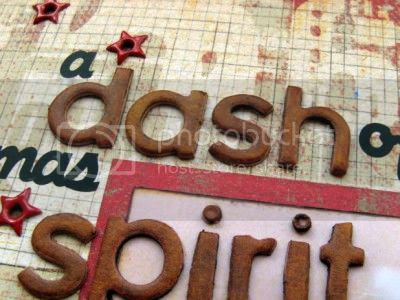 Layout detail - chipboard and rub-on title - Jimjams
