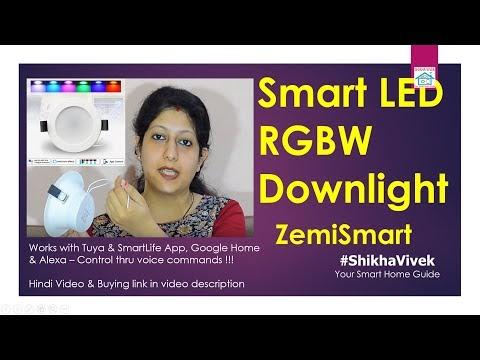 Smart Fancy RGBW Panel Downlight | ZemiSmart